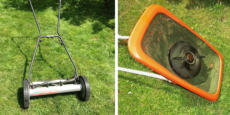 A cylinder and rotary lawn mower