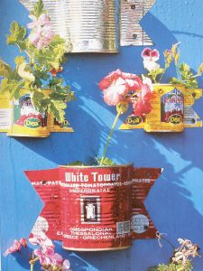 Upcycled tin cans