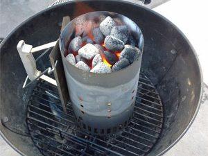 A bbq chimney starter