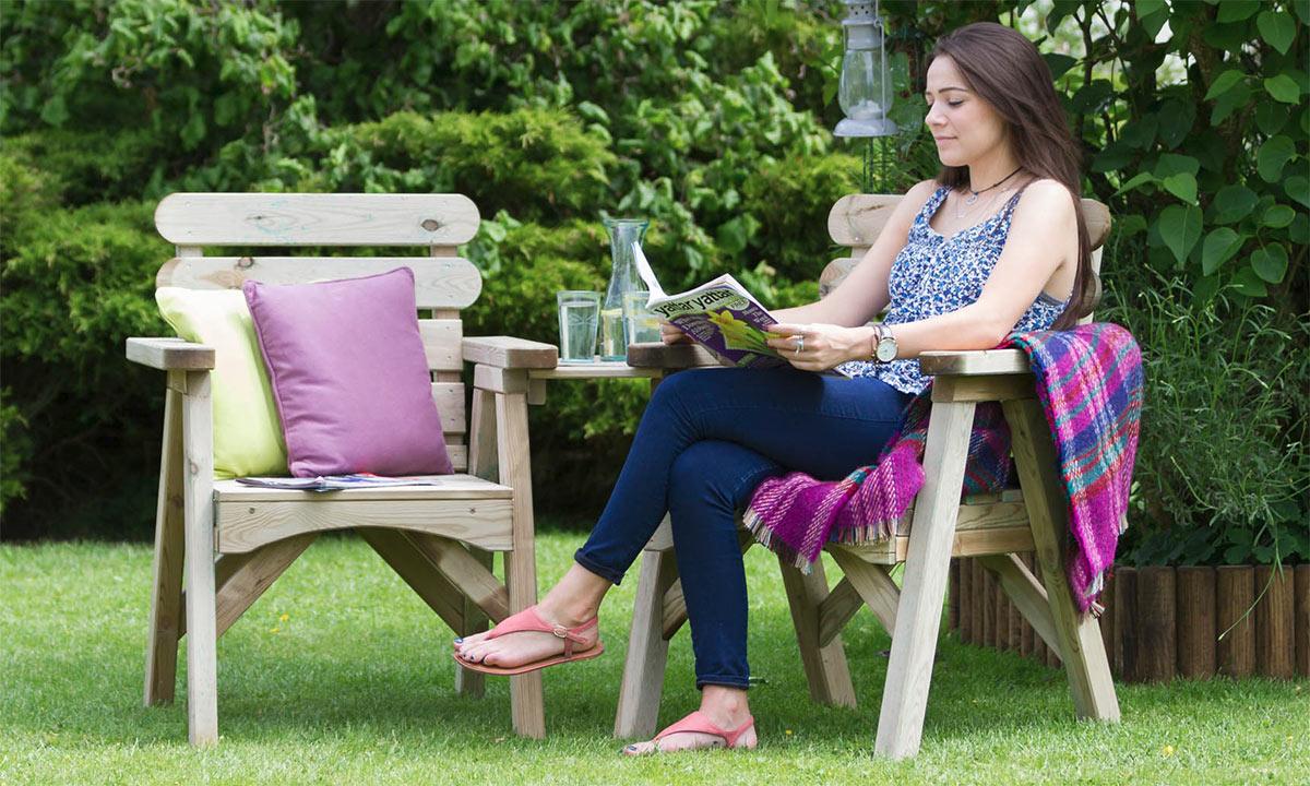 Softwood garden furniture