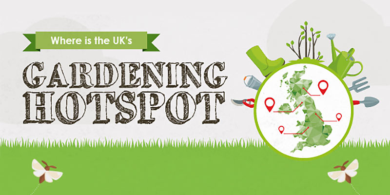 Where is the UK's gardening hotspot?