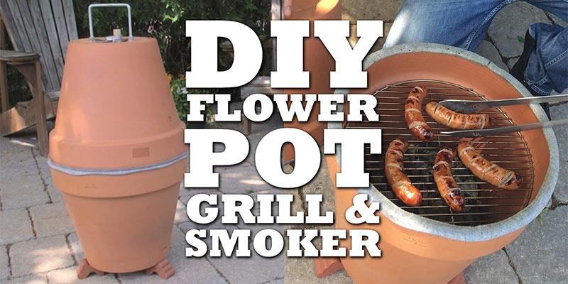 DIY grill smoker