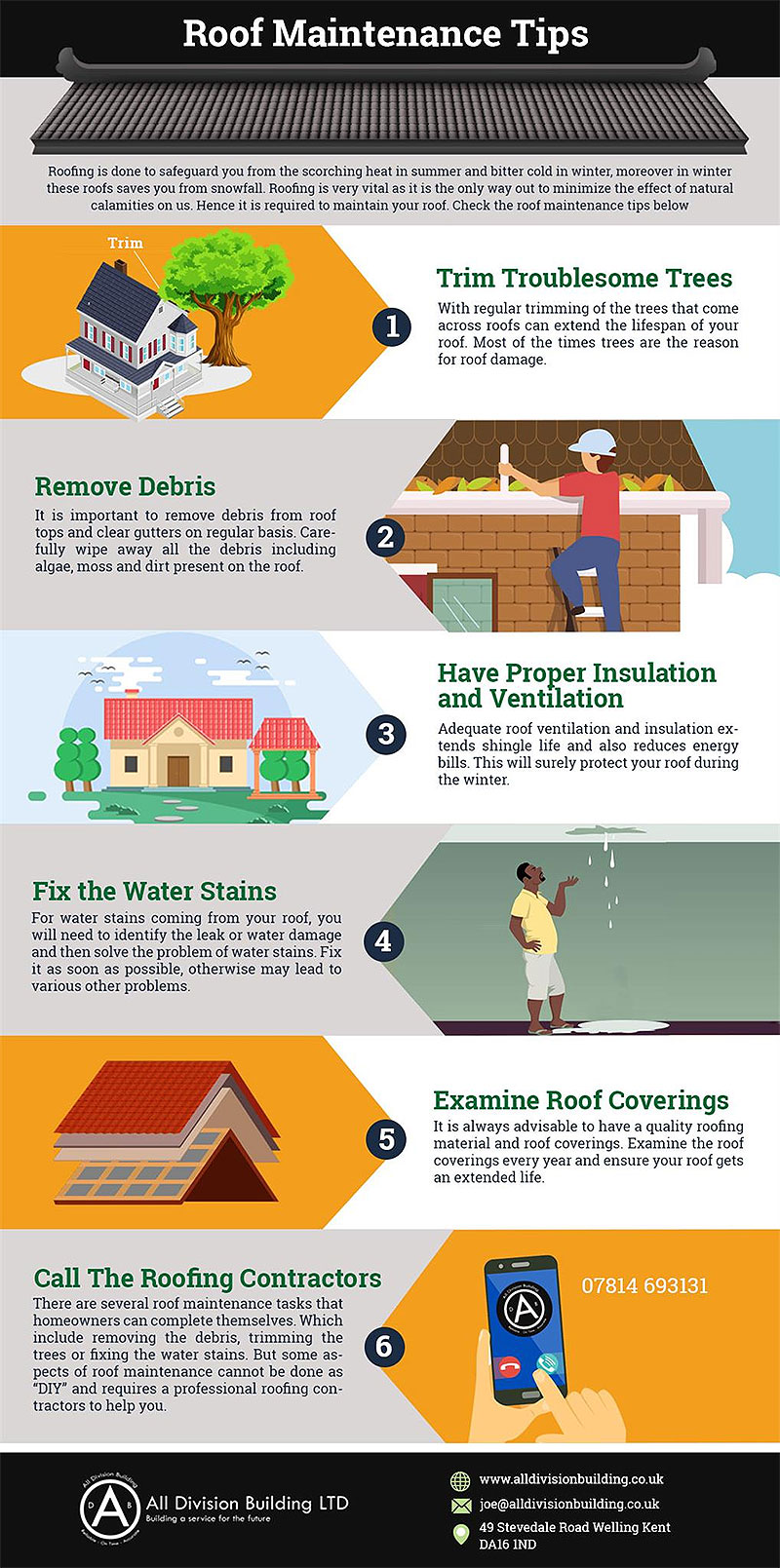 roofing infographic