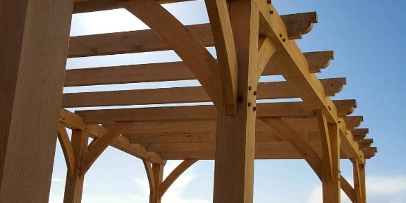 oak-framed pergola